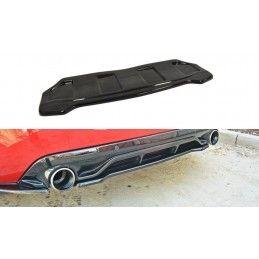 CENTRAL ARRIÈRE SPLITTER PEUGEOT 308 II GTI (sans barres verticales) Noir Brillant, 308