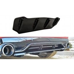 CENTRAL ARRIÈRE SPLITTER PEUGEOT 308 II GTI (avec barres verticales) Noir Brillant, 308