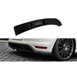 ARRIÈRE SPLITTER VW POLO MK5 GTI APRES FACELIFT (avec une barre verticale) Noir Brillant, Polo Mk5 6R