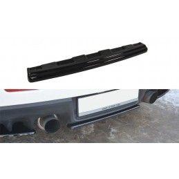 Maxton design Central Arrière Splitter Mitsubishi Lancer Evo X (sans Barres Verticales) Carbon Look