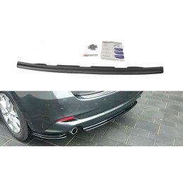 CENTRAL ARRIÈRE SPLITTER Mazda 3 BM (Mk3) Facelift (sans barres verticales) Noir Brillant, Mazda 3