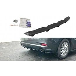 CENTRAL ARRIÈRE SPLITTER Mazda 3 BN (Mk3) Facelift (avec une barre verticale) Noir Brillant, Mazda 3