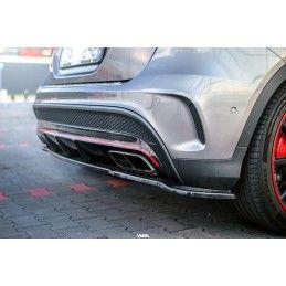 CENTRAL ARRIÈRE SPLITTER (SANS BARRES VERTICALES) MERCEDES-BENZ GLA 45 AMG SUV (X156) AVANT FACELIFT Texturé, GLA