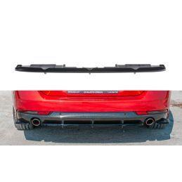 Central arriere splitter(avec une barre verticale)  Peugeot 508 SW Mk2 Noir Brillant, 508 SW
