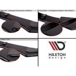 Maxton design Central Arrière Splitter Vw Golf 8 Textured