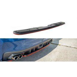 Central Arrière Splitter V.2 Subaru Wrx Sti Red + Gloss Black
