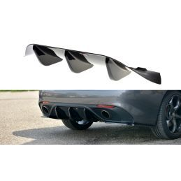 Maxton design Rajout Du Pare-Chocs Arrière Alfa Romeo Giulia Veloce Gloss Black