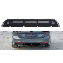 Rajout du pare-chocs arriere Volkswagen Passat R-Line B8 Noir Brillant, Passat B8
