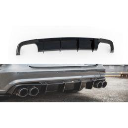 Maxton design Diffuseur Arrière Complet Audi S6 / A6 S-Line C7 Fl Gloss Black