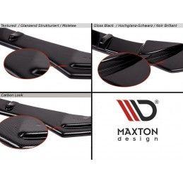 Maxton design Diffuseur Arrière Complet V.2 Seat Leon Cupra St Mk3 Fl Gloss Black
