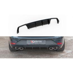Maxton design Diffuseur Arrière Complet V.3 Seat Leon Cupra St Mk3 Fl Gloss Black