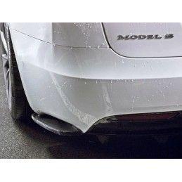 Maxton design Lame Du Pare Chocs Arrière Tesla Model S Facelift Carbon Look