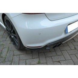 Lame Du Pare-Chocs Arrière Volkswagen Polo Mk5 R Wrc Carbon Look