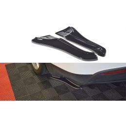 Maxton design Lame Du Pare-Chocs Arrière V.1 Tesla Model X Carbon Look