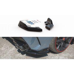 Maxton design Lames De Pare-Chocs Arrière latérales V.4 Bmw 1 F40 M-Pack/ M135i Carbon Look