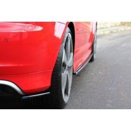 LAME DU PARE CHOCS ARRIERE Audi RS3 8P Noir Brillant, A3/ S3/ RS3 8P