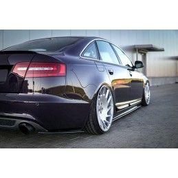 Lame Du Pare-Chocs Arriere Audi A6 S-Line C6 / C6 FL Sedan / Avant Noir Brillant, A6/RS6 4F C6