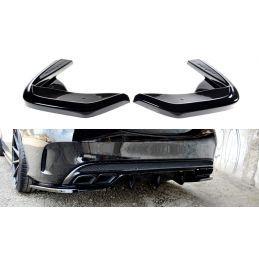 Lame Du Pare-Chocs Arrière Mercedes- Benz C43 Amg W205 Gloss Black
