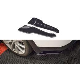 Maxton design Lame Du Pare-Chocs Arrière V.2 Tesla Model X Gloss Black