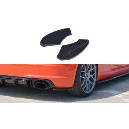 Maxton design Lame Du Pare-Chocs Arrière Audi Tt Rs 8s Gloss Black