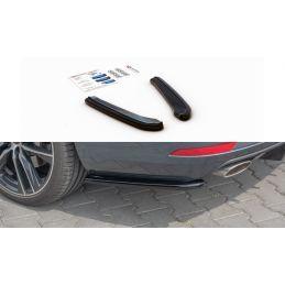 Maxton design Lame Du Pare-Chocs Arrière V.1 Seat Leon Cupra Mk3 Fl Sportstourer Gloss Black