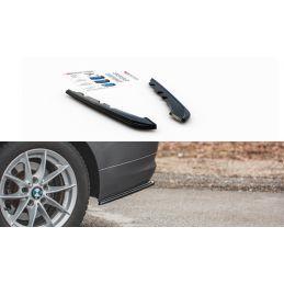 Maxton design Lames De Pare-Chocs Arrière latérales Bmw 3 E91 Facelift Gloss Black
