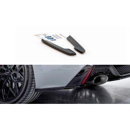 Maxton design Lames De Pare-Chocs Arrière latérales Audi Rs6 C8 Gloss Black