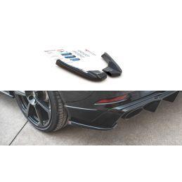 Maxton design Lames De Pare-Chocs Arrière latérales V.2 Audi Rs3 8v Sportback Facelift Gloss Black