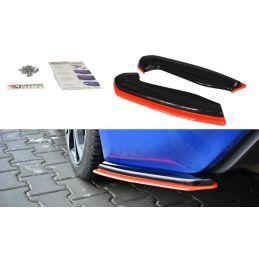 Lame Du Pare-Chocs Arrière V.2 Subaru Brz Facelift Carbon Look + Red