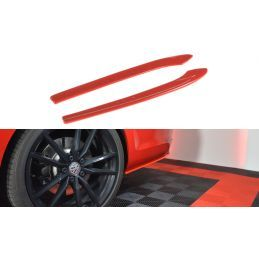 Lame Du Pare-Chocs Arrière V.2 Vw Golf 7 R Variant Facelift  Red