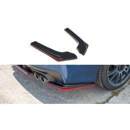 Lame Du Pare-Chocs Arrière V.2 Subaru Wrx Sti Textured + Red