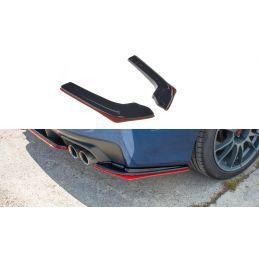 Lame Du Pare-Chocs Arrière V.2 Subaru Wrx Sti Gloss Black + Red