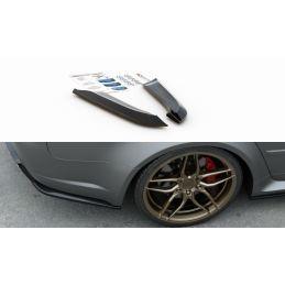 Maxton design Lames De Pare-Chocs Arrière latérales V.2 Audi Rs4 Sedan B7 Textured