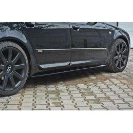 Rajouts Des Bas De Caisse Pour Audi S4 / A4 / A4 S-Line B6 / B7  Carbon Look