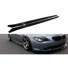 Maxton design Rajouts Des Bas De Caisse Pour Bmw 6 E63 / E64 (avant Facelift) Carbon Look