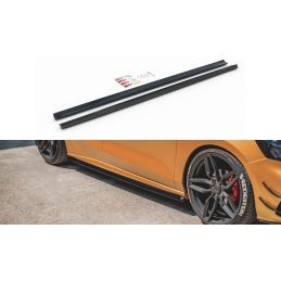 Maxton design Rajouts Des Bas De Caisse V.5 Ford Focus St / St-Line Mk4 Carbon Look