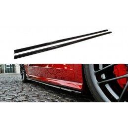 Maxton design Rajouts Des Bas De Caisse Pour Audi S3 / A3 S-Line 8v / 8v Fl Sportback Gloss Black