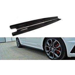 Rajouts Des Bas De Caisse Pour Skoda Octavia Rs Mk3 / Mk3 Fl Hatchback / Kombi Gloss Black