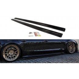 Rajouts Des Bas De Caisse Pour Audi S8 D4 FL Noir Brillant, A8/S8 D4