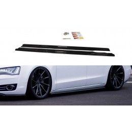 Rajouts Des Bas De Caisse Pour Audi A8 D4 Noir Brillant, A8/S8 D4