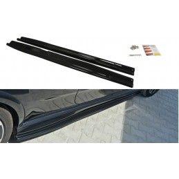 Maxton design Rajouts Des Bas De Caisse Pour Fiat Punto Evo Abarth Gloss Black