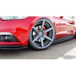 Rajouts Des Bas De Caisse Ford Mustang Mk6 Noir Brillant, Mustang