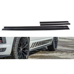 Set des diffeuseur des bas de caisse Volkswagen T6 Noir Brillant, T6