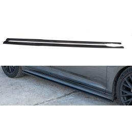 Set des diffeuseur des bas de caisse Volkswagen Passat R-Line B8 Noir Brillant, Passat B8