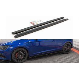 Maxton design Rajouts Des Bas De Caisse Seat Leon Cupra / Fr Sc Mk3 / Mk3 Fl Gloss Black