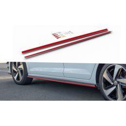 Maxton design Set Des Diffuseur Des Bas De Caisse Vw Polo Mk6 Gti Red