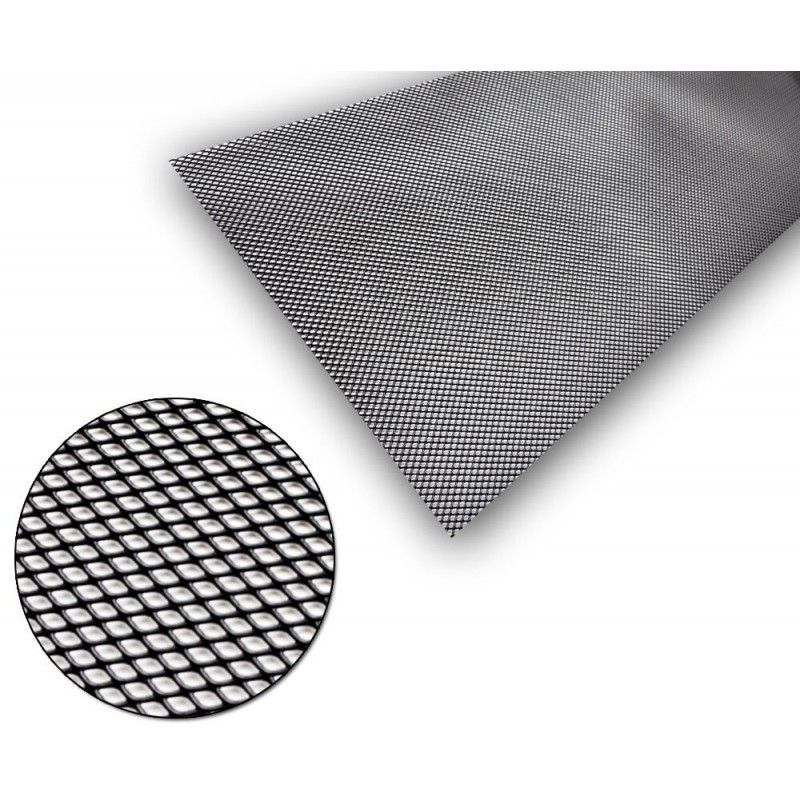 Maxton design Universel Grille Aluminium Noir 5x3mm 100x30cm